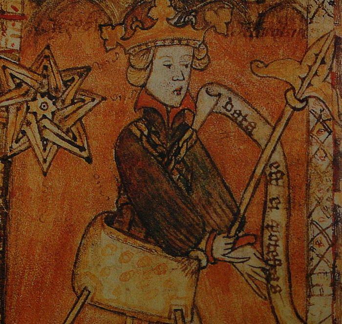 Король Магнус, иллюстрация XIV в.