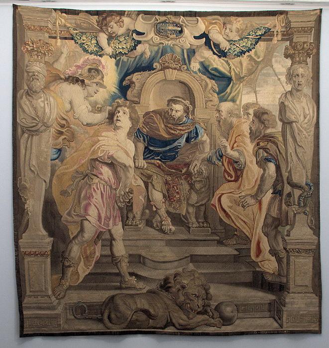 Шпалера «Гнев Ахилла», созданная по картону Рубенса