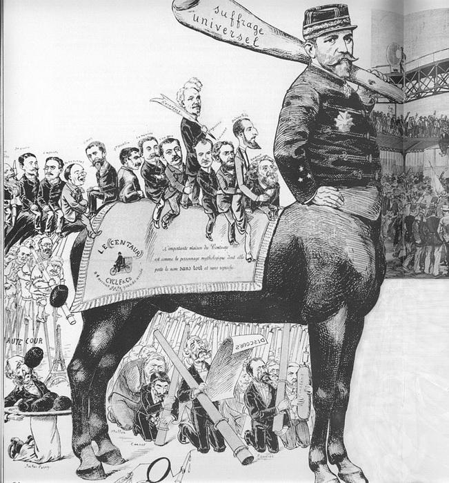 Карикатура в одной из парижских газет