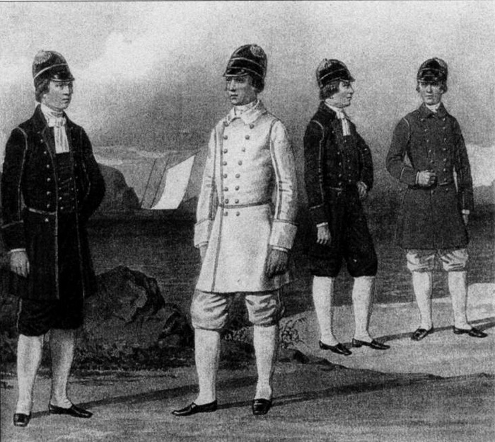 Гребцы придворной команды в I половине XVIII века