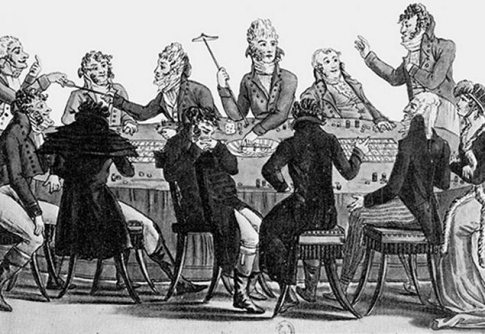 Карикатура Дж. Гилрея, датируемая 1782 годом