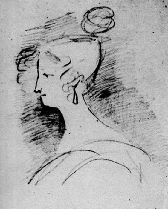 На полях рукописей Пушкин сделал около тридцати набросков с изображением Воронцовой