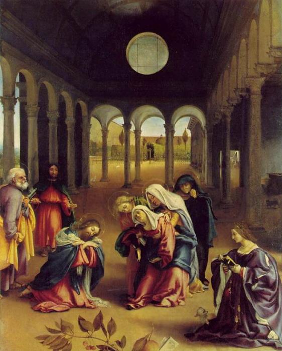 """Л. Лотто """"Христос прощается с матерью"""""""