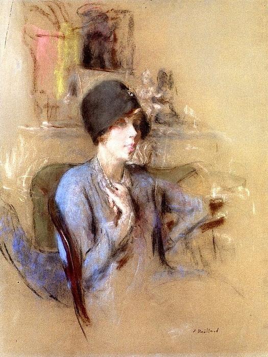 Ж.-Э. Вюйар. Женщина в синей шляпке