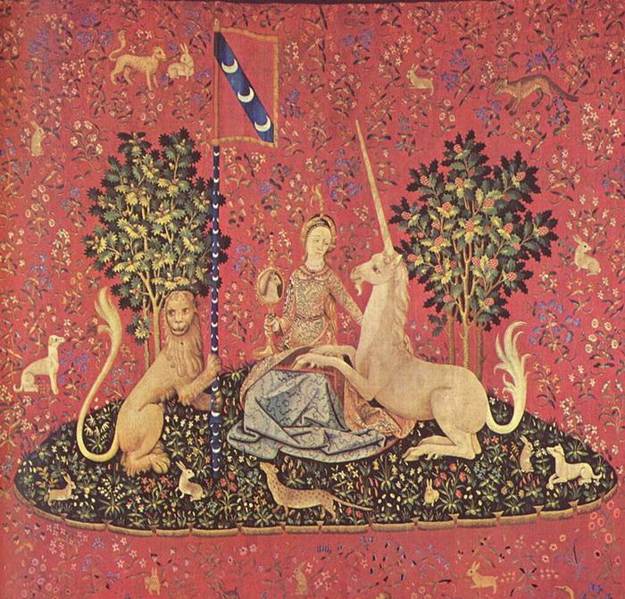 «Дева с единорогом». Гобелен XV века