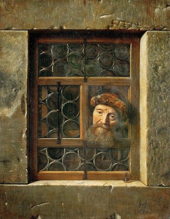"""С. ван Хогстратен """"Мужчина в окне"""""""