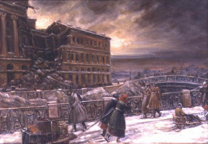 В.Н. Кучумов. У Марсова поля. 1942 г.