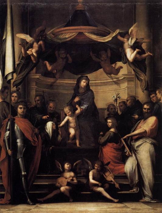 Фра Бартоломео. Обручение Святой Екатерины Сиенской