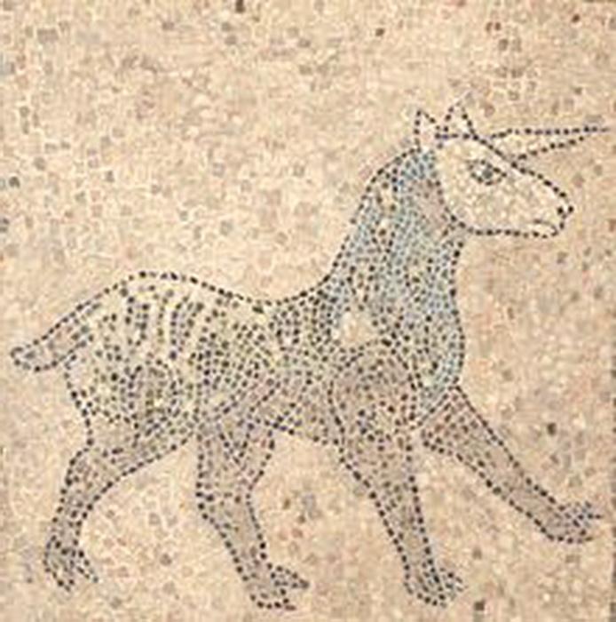 Единорог на мозаике церкви в Равенне