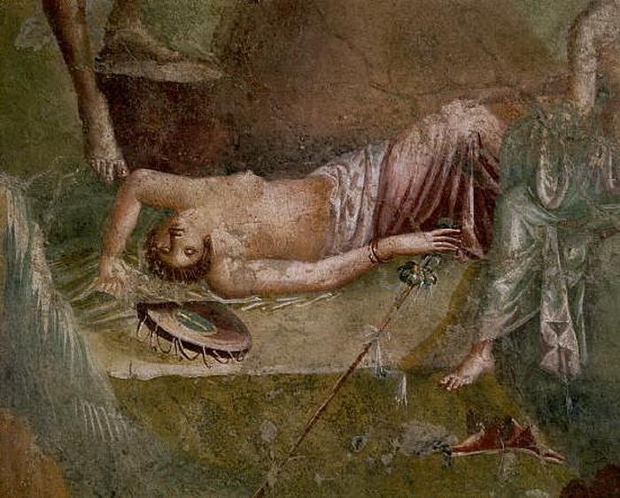 Фреска на стене дома в Помпеях