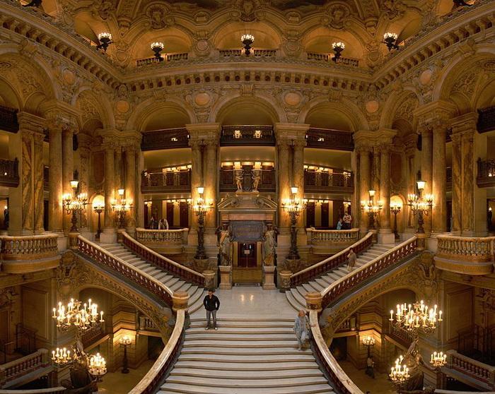 Парадная лестница Парижской оперы