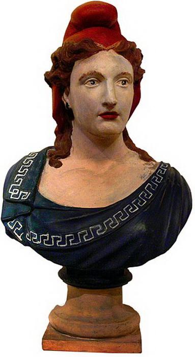 Бюст Марианны в красном фригийском колпаке