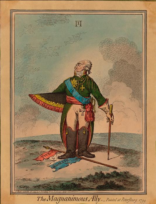 Карикатура во времена правления Павла набирала популярность как вновь открытый жанр изобразительного искусства
