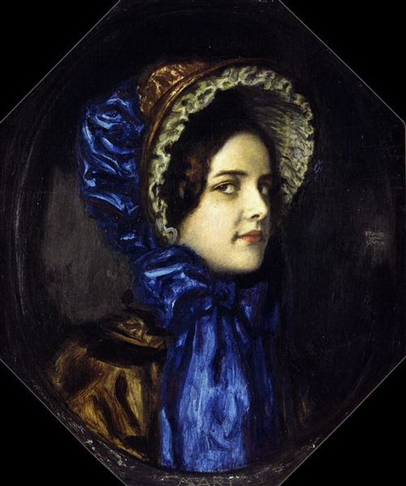 Ф. фон Штук. Мэри в шляпе в стиле бидермейер.
