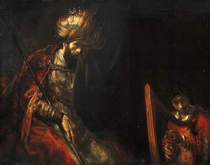 Рембрандт. «Саул и Давид»
