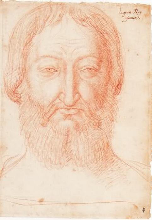 Рисунок, сделанный Ф. Клуэ по посмертной маске Франциска I