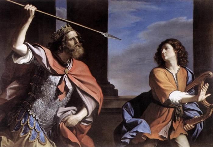 Так изобразил Саула и Давида итальянский художник Гверчино
