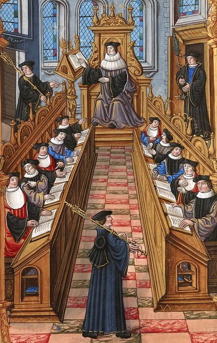В 1492 году Эразм поступил в Парижский университет