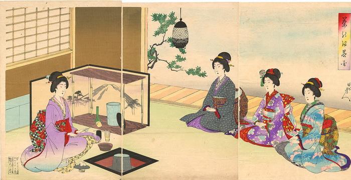 Рисунок Йоши Шиканобу