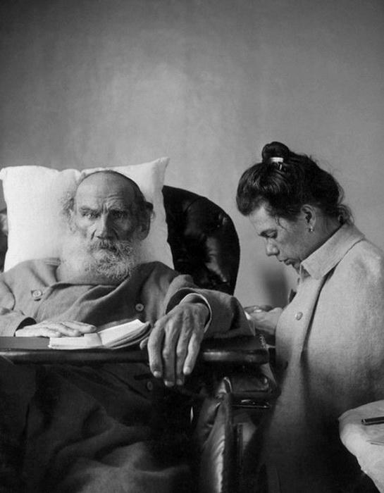Л.Н. Толстой с дочерью Татьяной
