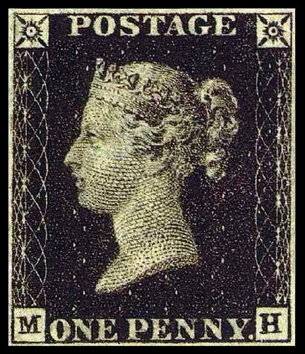 «Черный пенни» 1840 г. Результатом нововведений стало увеличение количества писем за год с 75 до 168 миллионов