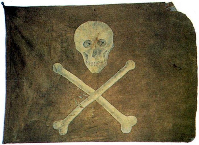 Классическое изображение пиратского флага