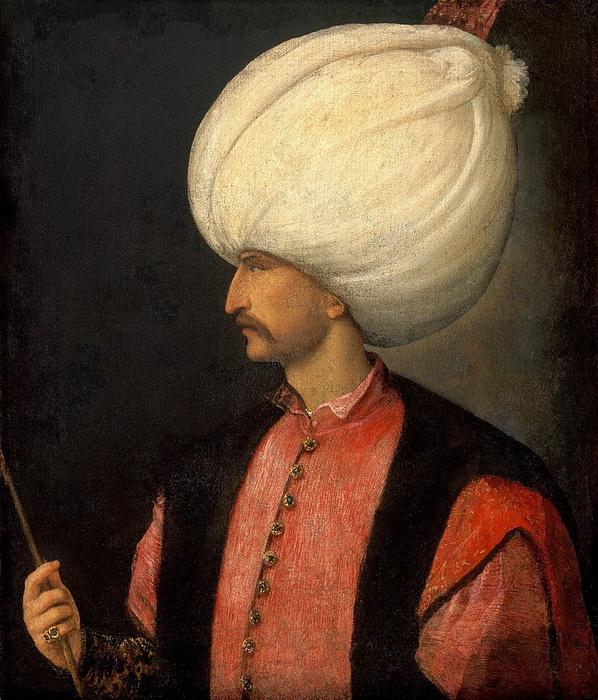 Величина тюрбана многое говорила о статусе его хозяина. Тициан. «Портрет Сулеймана Великолепного»