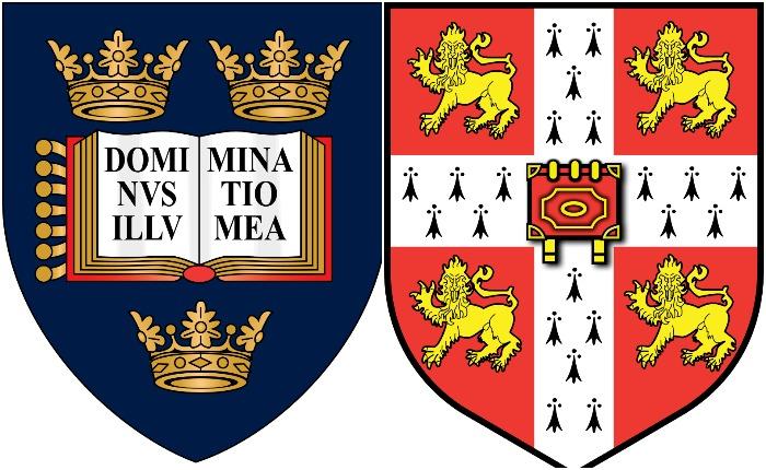 Гербы Оксфорда и Кембриджа