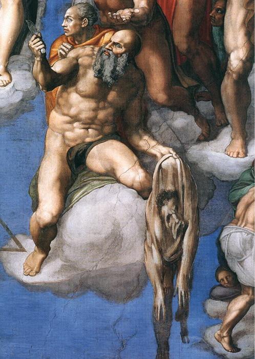 Фрагмент фрески со святым Варфоломеем