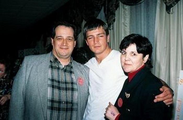 Натан с родителями