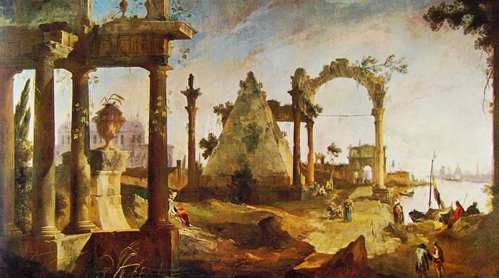 Каналетто. Пейзаж с руинами
