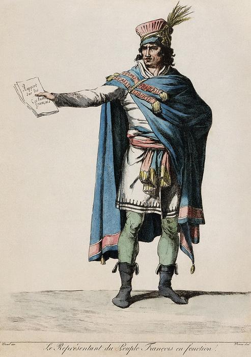 Эскиз костюма республиканца, созданный Давидом совместно с Деноном