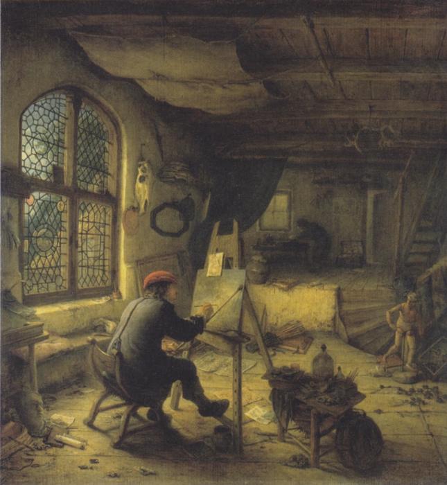 А. Янс ван Остаде. Автопортрет в мастерской