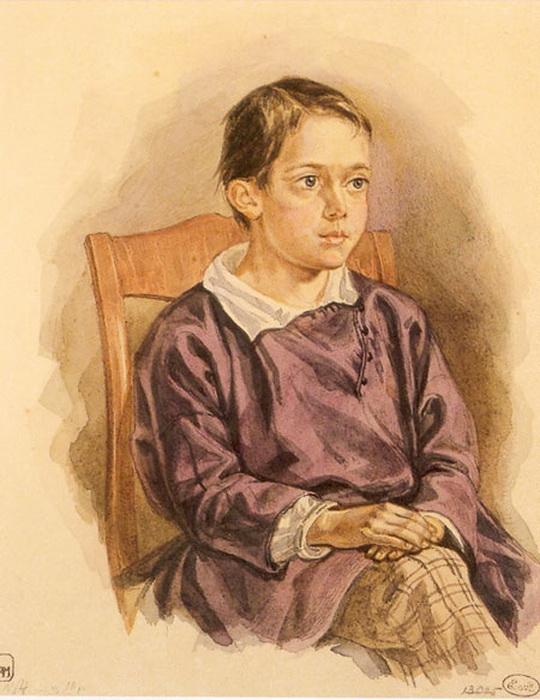 Егор Маковский. Портрет сына Николая