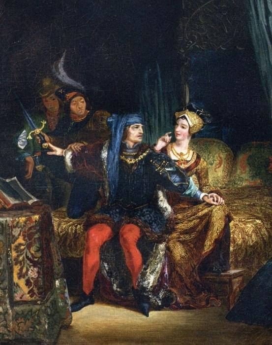 Э. Делакруа. Карл VI и Одетта не Шамдивер