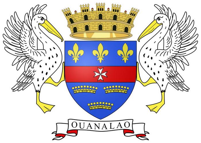 Три короны на гербе острова отсылают к таким же на гербе Швеции