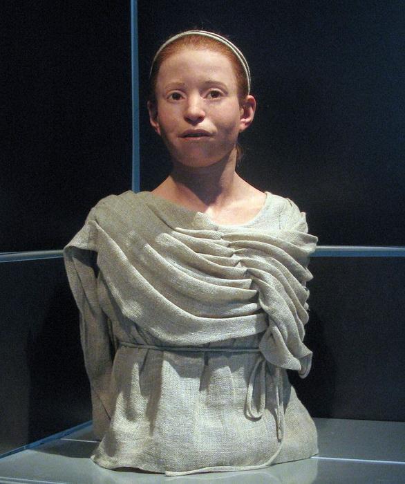 Реконструкция внешности девочки, умершей в результате чумы. Национальный музей Афин
