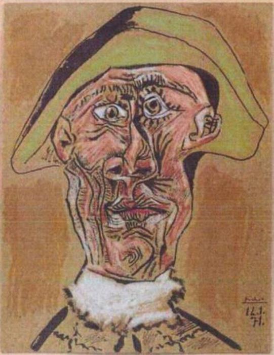 """П. Пикассо. """"Голова арлекина"""""""
