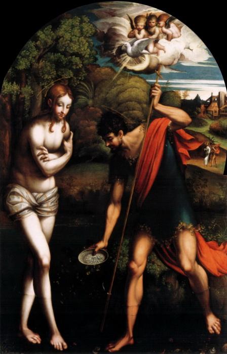 """Пармиджанино """"Крещение Христа"""""""