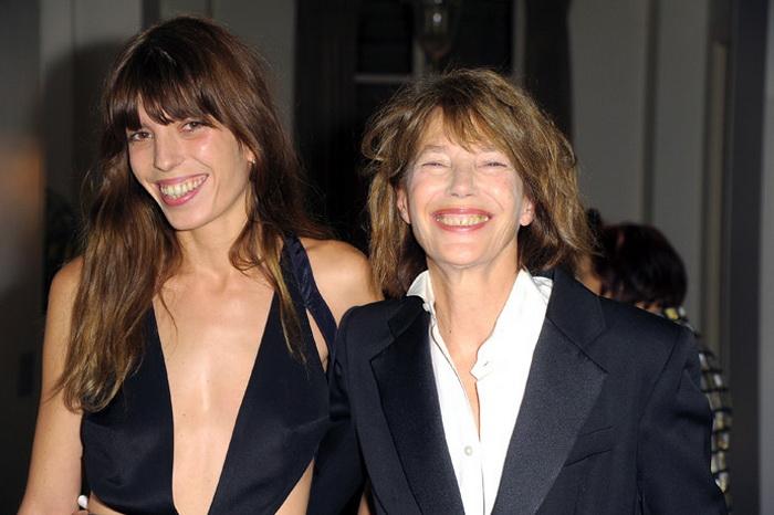 Джейн Биркин с дочерью Лу Дуайон