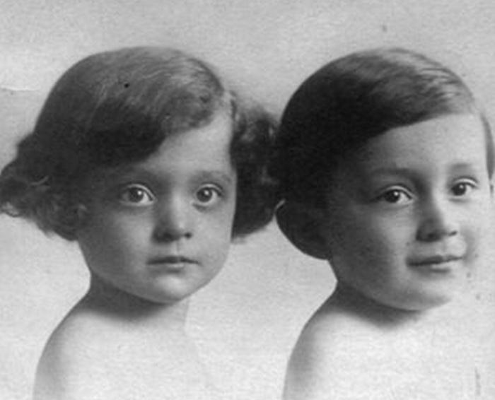 Люсьен с сестрой Лилиан
