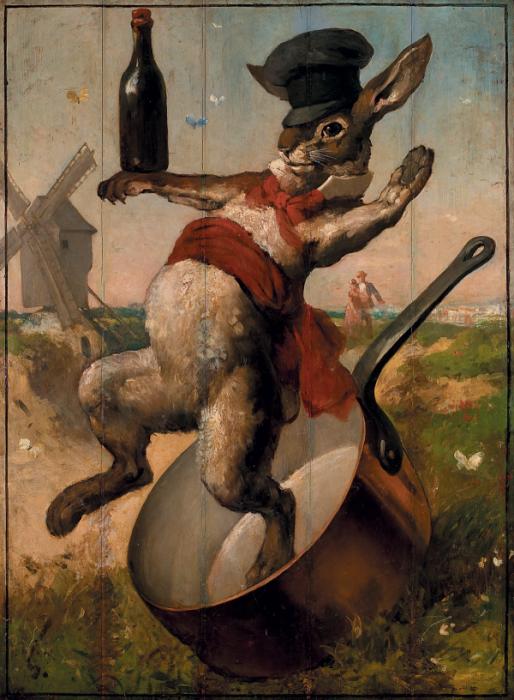 Вывеска заведения *Ловкий кролик*