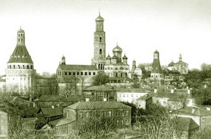Симонов монастырь. Фото XIX века