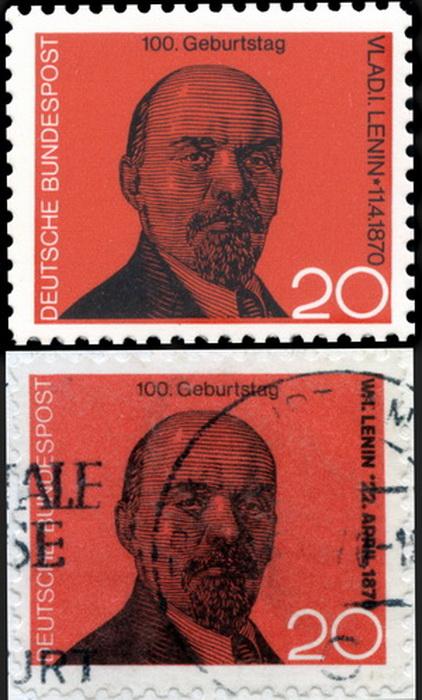 В 1970 году житель ФРГ Йорг Шредер изготовил марки с портретом Ленина, после чего разослал письма с ними членам бундестага