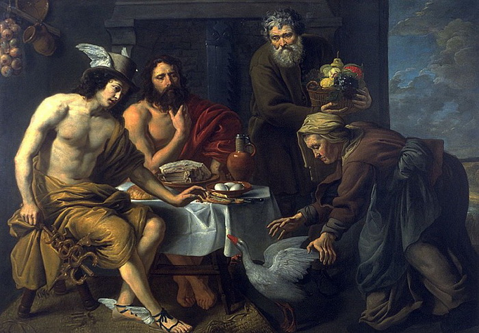 Ян ван Оост. Меркурий и Юпитер в доме Филемона и Бавкиды