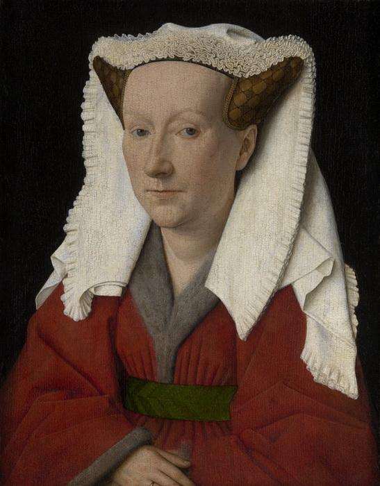 """Ян ван Эйк. """"Портрет Маргарет ван Эйк, жены художника"""""""