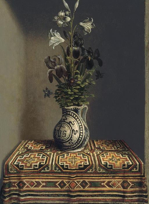 Г. Мемлинг. Натюрморт. Это один из первый натюрмортов в искусстве Северного Возрождения