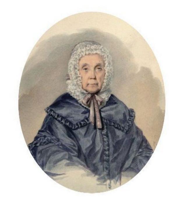 С. Судариков. Елизавета Петровнеа Янькова. Портрет был написан, когда Яньковой было 77 лет