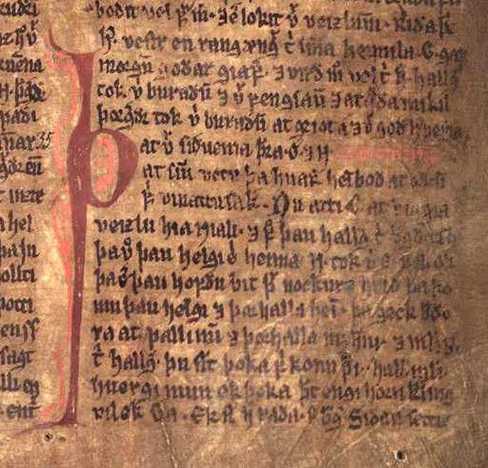 Сага. Рукопись XIV века