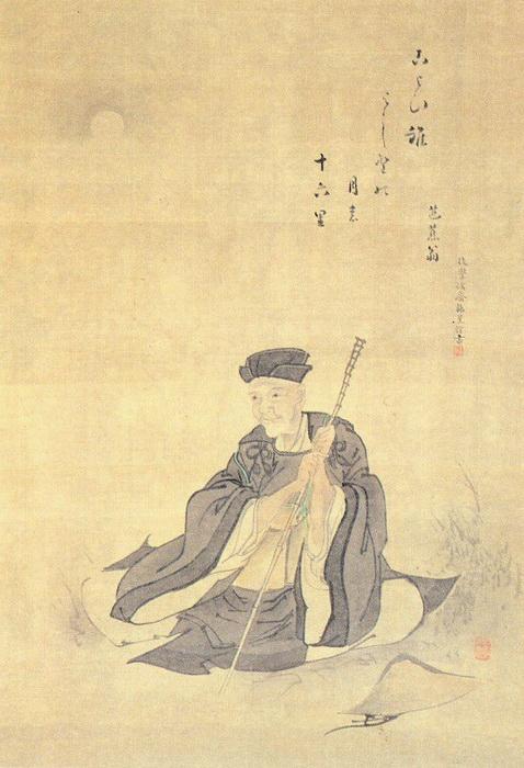 Портрет Басё работы Камимуро Хакуэ